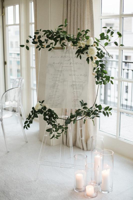 The white wedding company / acrylic table plan